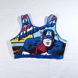 NWOT  Marvel Captain America Avengers Sports Bra